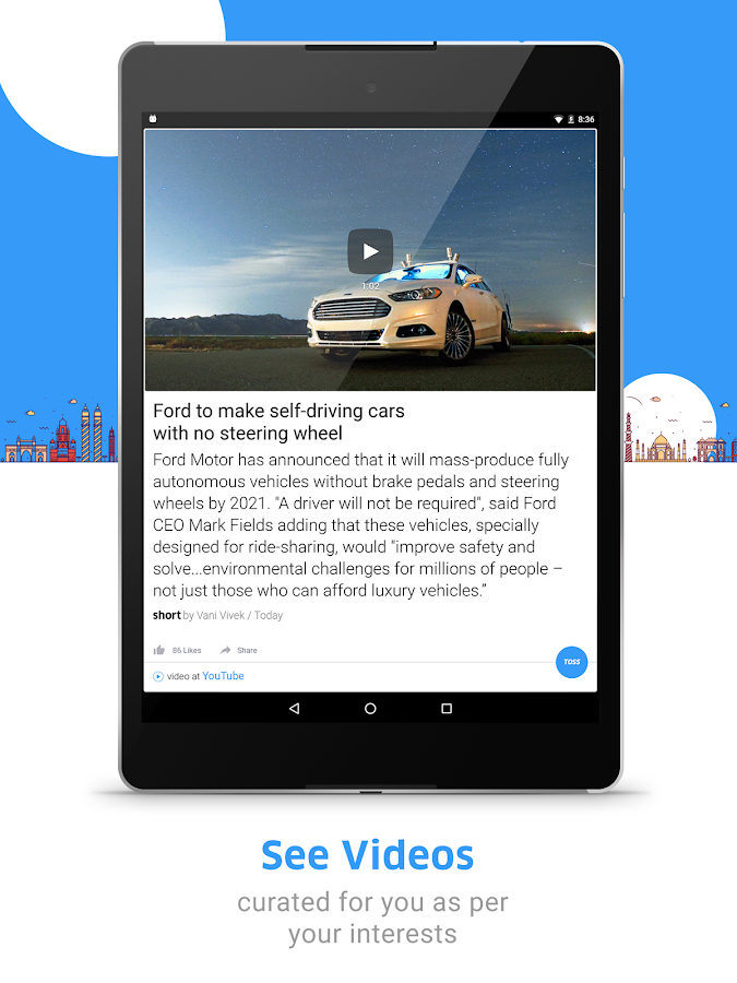 Screenshots of Inshorts - News in 60 words for iPhone
