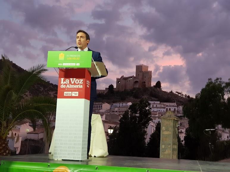 Óscar Liria, vicepresidente de Diputación y diputado de Fomento, durante su intervención.
