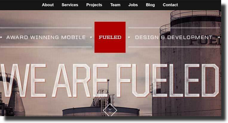 Fueled tech website design inspiration
