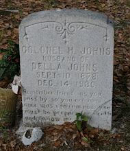 Photo: Colonel H Johns son of James Leigh and Elizabeth Reynolds Johns / Husband of 1. Lola Prevatt 2.  Della Johns