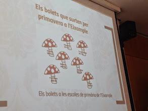 Photo: Projecció de la presentació sobre le Mapa Escolar de l'Eixample