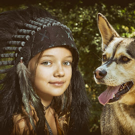 Pocahontas by Charles Paulus - Babies & Children Child Portraits