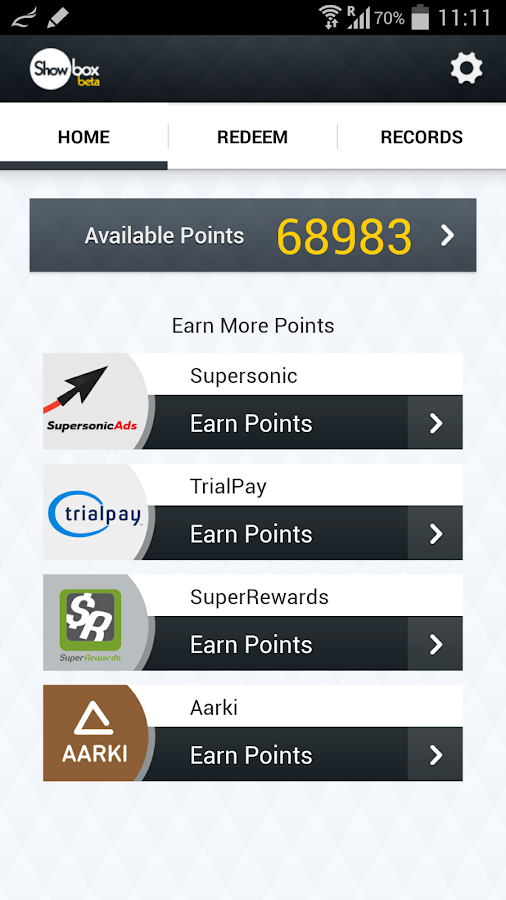 Showbox - Earn Rewards & Cash - screenshot