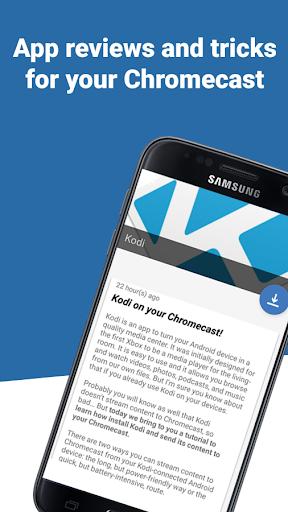 Apps for Chromecast Screenshot