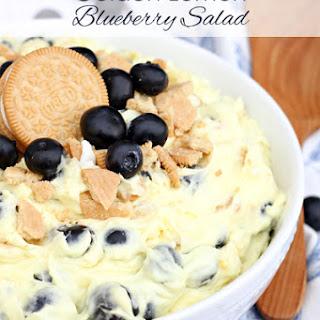 Golden Lemon Blueberry Cheesecake Salad