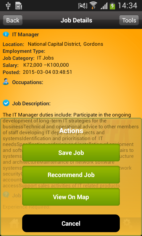 PNGJobSeek- screenshot