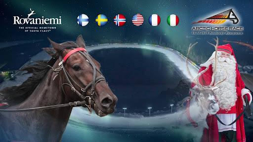 Ainutlaatuinen Arctic Horse Race Rovaniemellä lauantaina 14.12.!