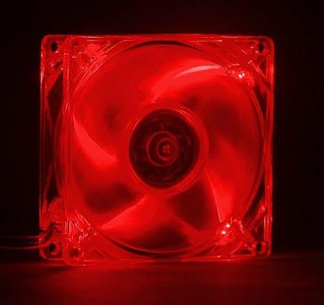 MIST vifte m/rød LED, 80x25