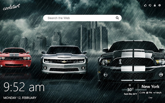 Muscle Cars HD Wallpapers New Tab Theme