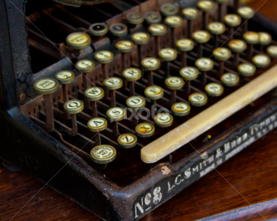 typewriter by SumPics Photography - Artistic Objects Other Objects ( old, typewriter, keys, letters, antique )