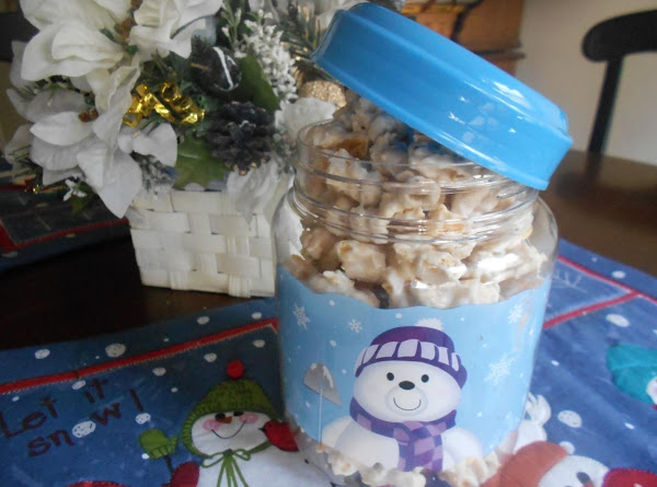 White Chocolate Snow Snack Mix Recipe