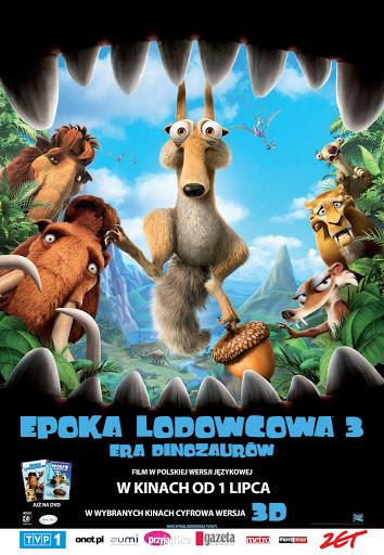 Polski plakat filmu 'Epoka Lodowcowa 3: Era Dinozaurów'