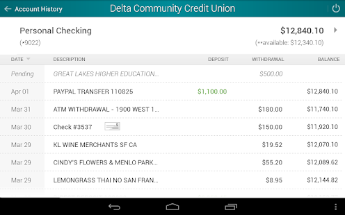 Delta Community Credit Union- screenshot thumbnail