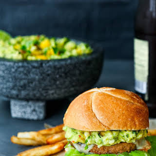 Mango Guacamole Turkey Burger.