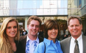 Mel's son Russel, wife Lynn, and their children Devry and Conner