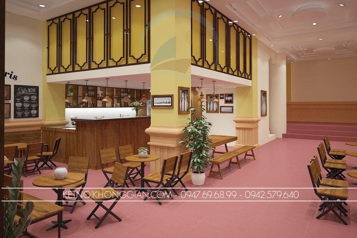 thiết kế quán cafe hợp lý