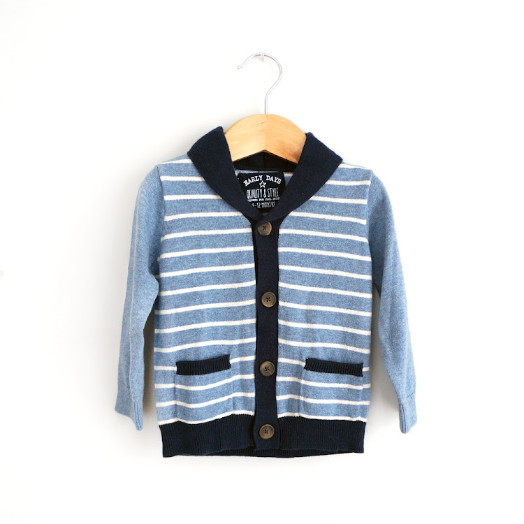 Button Up Blue Cardi by FirstJoy Asia Sdn Bhd