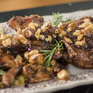 Herb And Grape Roasted Duck Legs.