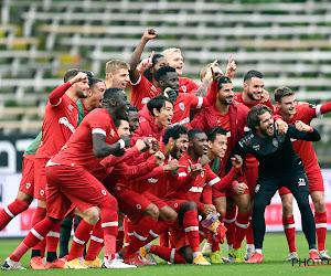 """🎥 Lege tribune groeten en enorme ontlading, zo vierde Antwerp de gewonnen stadsderby: """"De ploeg van 't Stad! Nog altijd!"""""""