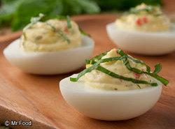 From Mr. Food. Italian Deviled Eggs Recipe