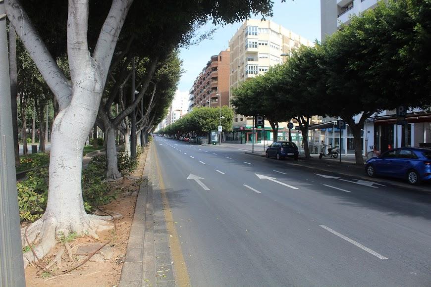 La ciudad el primer día de la entrada en vigor del estado de alarma.