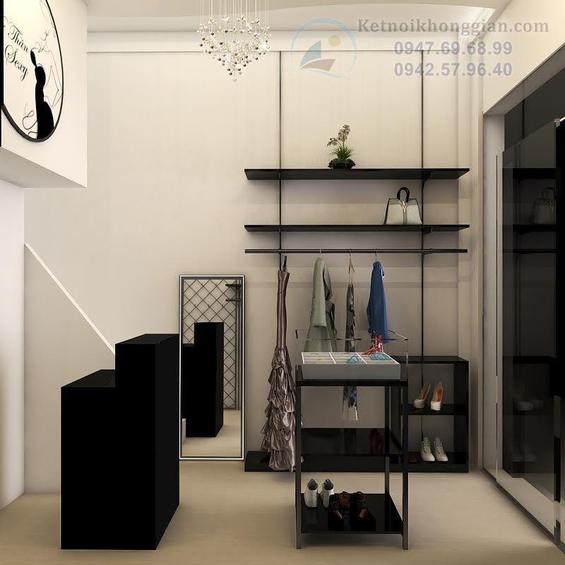 thiết kế shop thời trang nữ hiện đại, trẻ trung