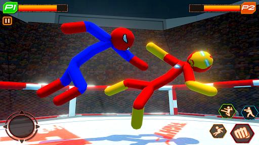 Stickman Wrestling: Stickman Fighting Game android2mod screenshots 1