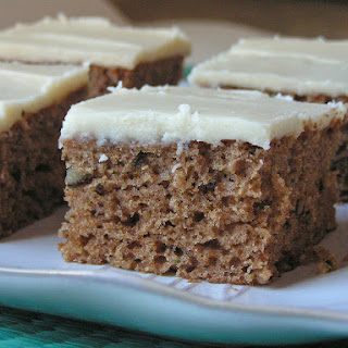 Zucchini Spice Cake with Browned Butter Frosting.