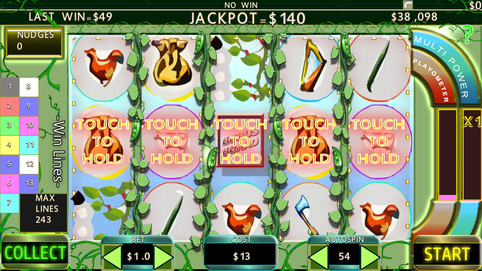243 Line Jack & Beanstalk Slot- screenshot