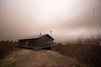 Photo: Ash from the 2011 Grímsvötn eruption arriving 160km away from the eruption