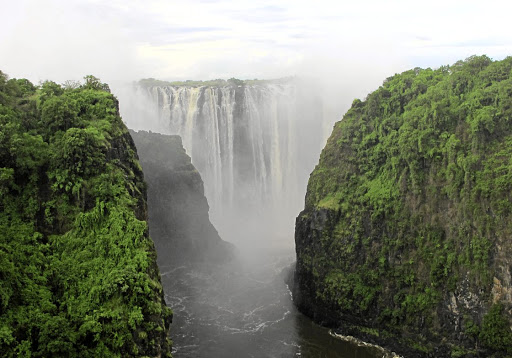 The Victoria Falls on the Zambezi River is the main drawcard for visitors to the resort town of the same name.