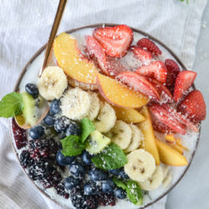 Rainbow Coconut Smoothie Bowls