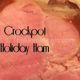 Easy Crockpot Holiday Ham.