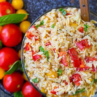 Bruschetta Orzo Pasta Salad Recipe