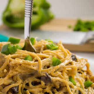Creamy {30 minute} Mushroom Pepper Pasta.