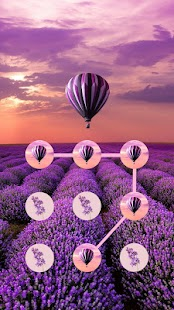 Lavender APP Lock Theme Flower Pin Lock Screen - náhled