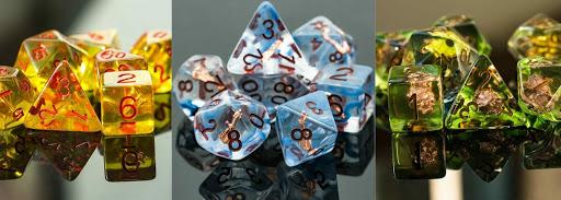 SkullSplitter Dice's class inspired gamer 7-piece dice sets