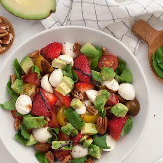 Avocado Strawberry Caprese Salad Recipe