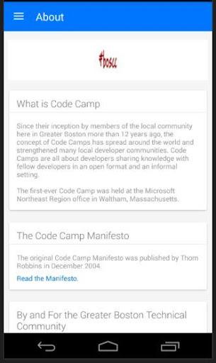 Boston Code Camp Screenshot