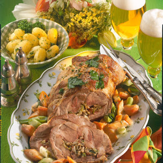 Pork Roast with Spring Vegetables.