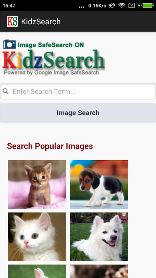 KidzSearch Safe Web Browser- screenshot