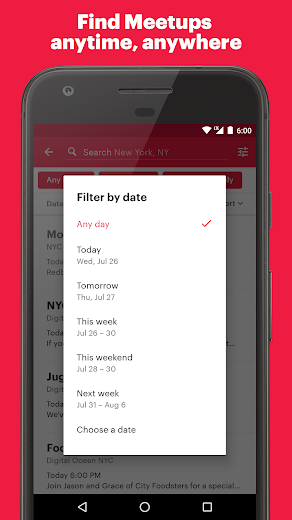 Screenshot 1 for Meetup's Android app'