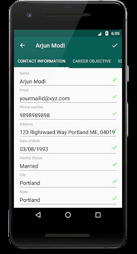 Resume Creator - Phone PDF Creator 1.8 screenshots 2