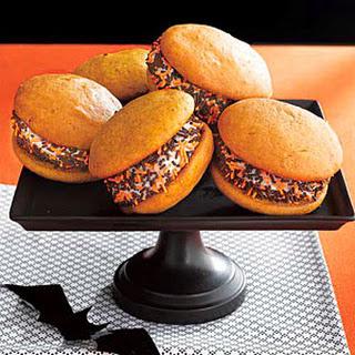 Pumpkin-Vanilla Ice Cream Sandwiches