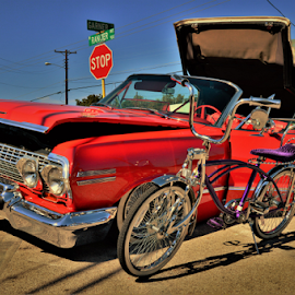 Cherry Drop by Benito Flores Jr - Transportation Automobiles ( covertible, low rider, texas, killeen, car redd,  )