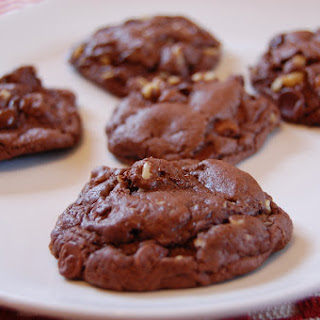 Double Chocolate Chip Cake Mix Cookies