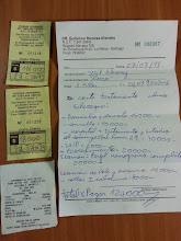 Photo: Boleta con los gastos