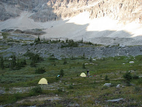Photo: Lovely spot for a bivy.  Water, good views and no crowds - doesn`t get any better than this!