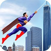 Rope Flying Adventure Game - Superheroes Fly Fun
