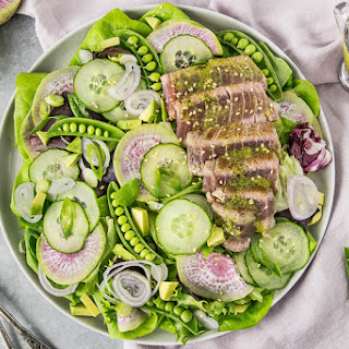 Ahi Tuna Spring Salad {with Asian Vinaigrette}